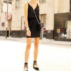 Amanda Uprichard  Silk LBD Cocktail Wrap Dress